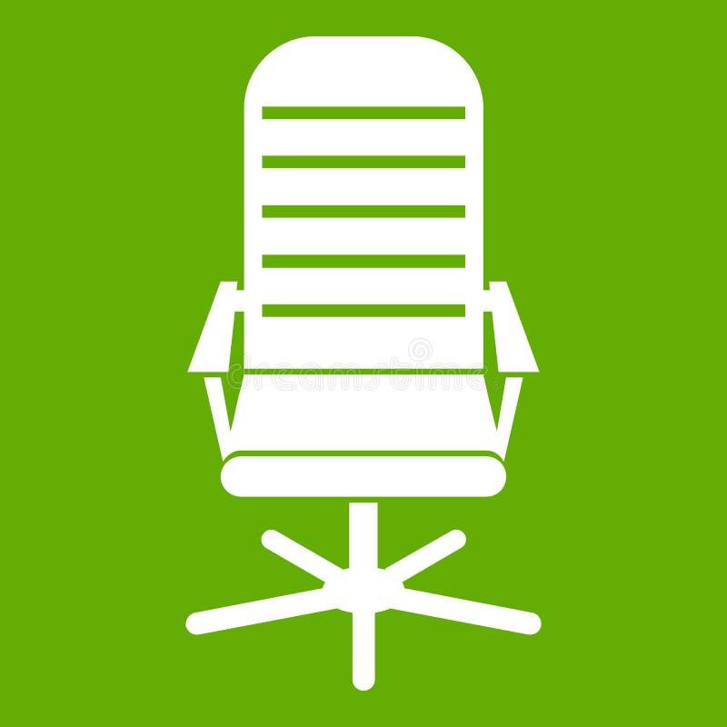 Εικονίδιο καρεκλών γραφείων πράσινο διανυσματική απεικόνιση