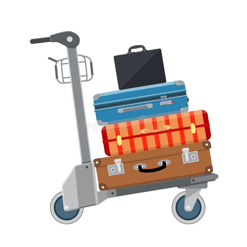 Εικονίδιο καροτσακιών αποσκευών διανυσματική απεικόνιση