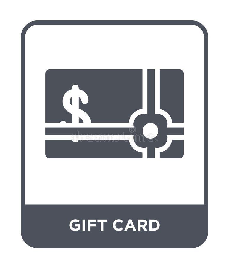 εικονίδιο καρτών δώρων στο καθιερώνον τη μόδα ύφος σχεδίου Εικονίδιο καρτών δώρων που απομονώνεται στο άσπρο υπόβαθρο δώρων απλό  ελεύθερη απεικόνιση δικαιώματος