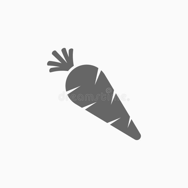 Εικονίδιο καρότων, διάνυσμα καρότων διανυσματική απεικόνιση