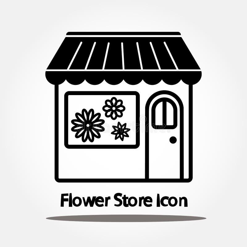 Εικονίδιο καταστημάτων λουλουδιών ελεύθερη απεικόνιση δικαιώματος