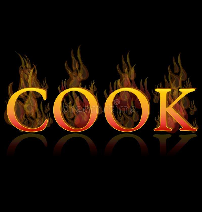 Εικονίδιο κειμένων σχαρών μαγείρων απεικόνιση αποθεμάτων