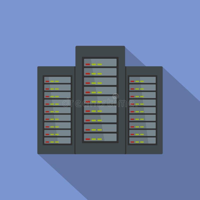 Εικονίδιο κεντρικών υπολογιστών, επίπεδο ύφος απεικόνιση αποθεμάτων