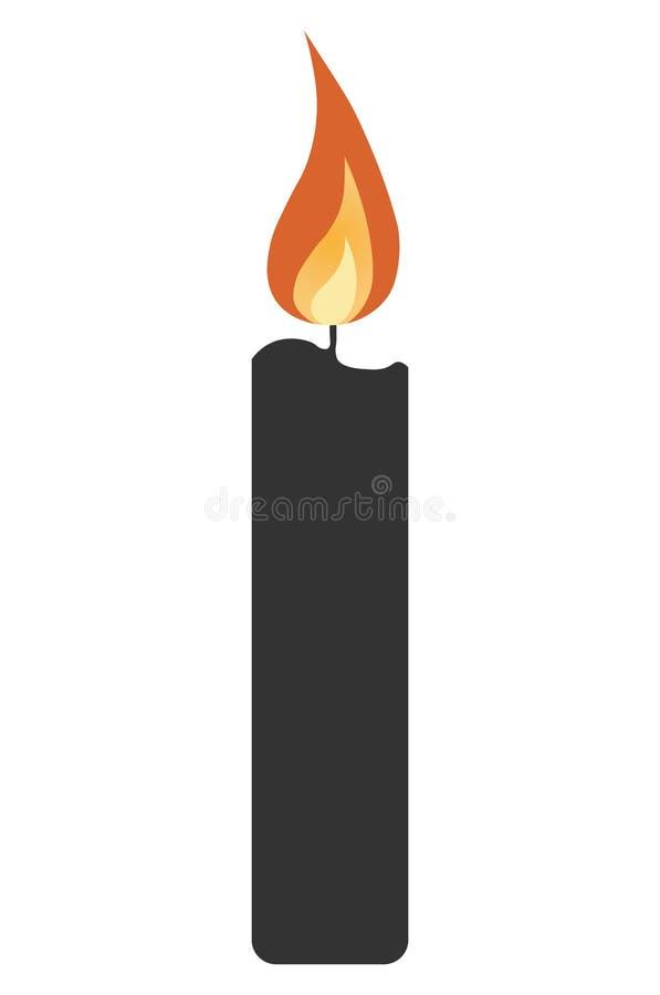 Εικονίδιο κεριών απεικόνιση αποθεμάτων