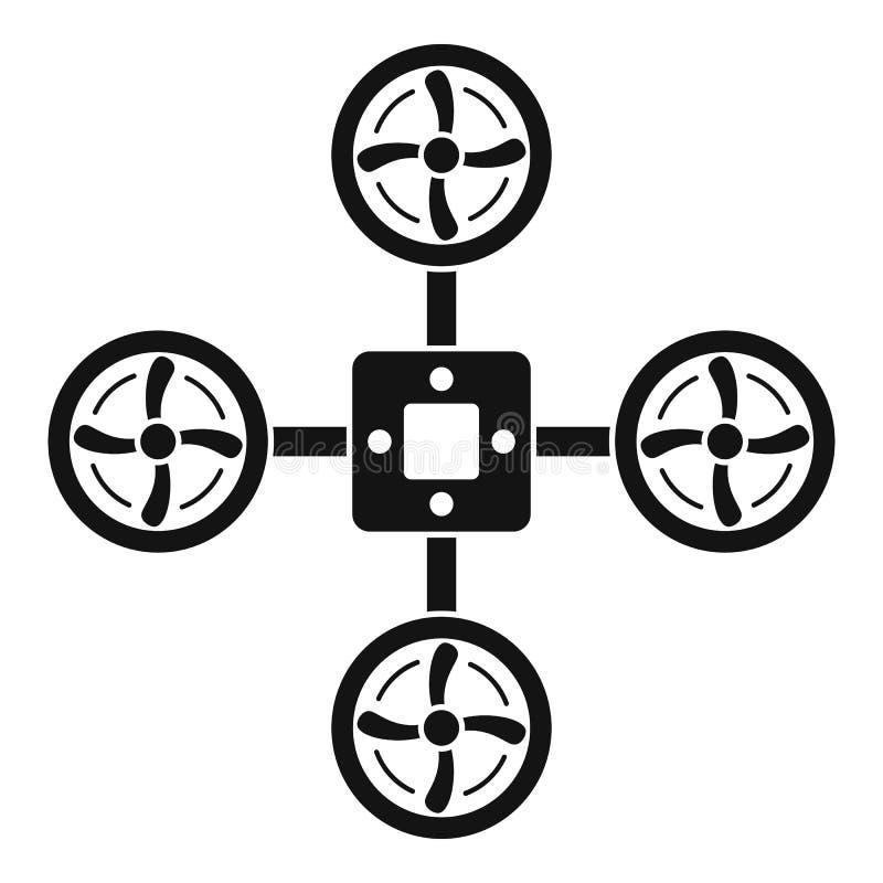 Εικονίδιο κηφήνων κατασκόπων, απλό ύφος απεικόνιση αποθεμάτων
