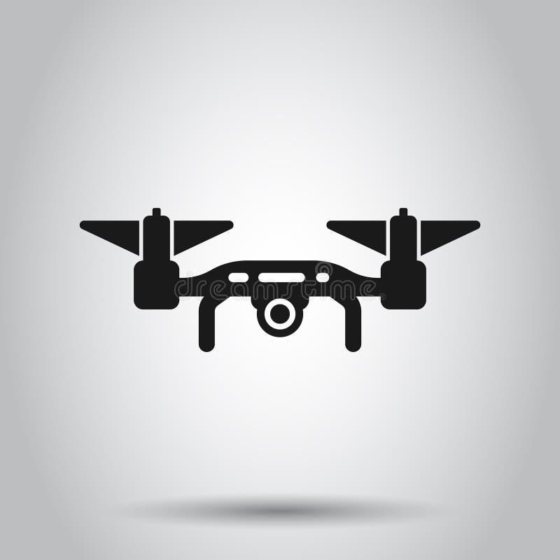 Εικονίδιο κηφήνων στο διαφανές ύφος Πετώντας διανυσματική απεικόνιση καμερών στο απομονωμένο υπόβαθρο Επιχειρησιακή έννοια πτήσης ελεύθερη απεικόνιση δικαιώματος