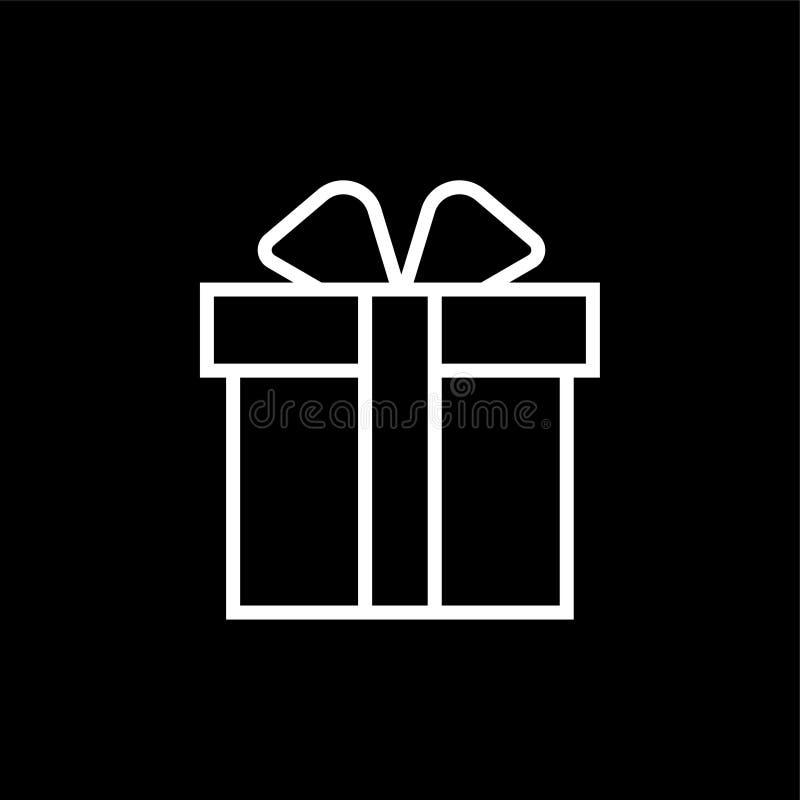 Εικονίδιο κιβωτίων δώρων διανυσματική απεικόνιση