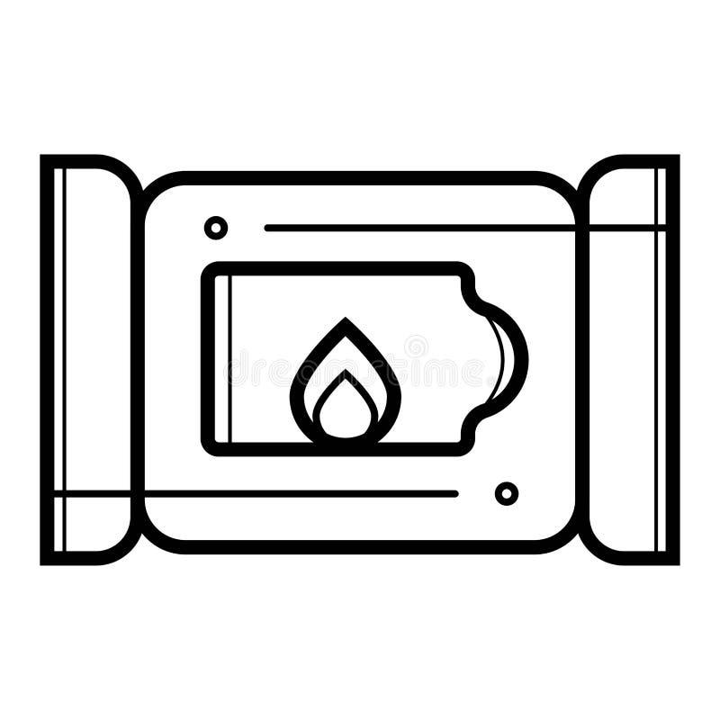 Εικονίδιο κιβωτίων εγγράφου ιστού απεικόνιση αποθεμάτων