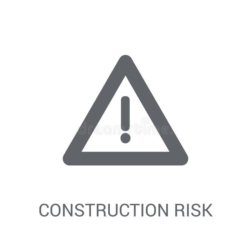 εικονίδιο κινδύνου κατασκευής Καθιερώνουσα τη μόδα έννοια λογότυπων κινδύνου κατασκευής επάνω ελεύθερη απεικόνιση δικαιώματος