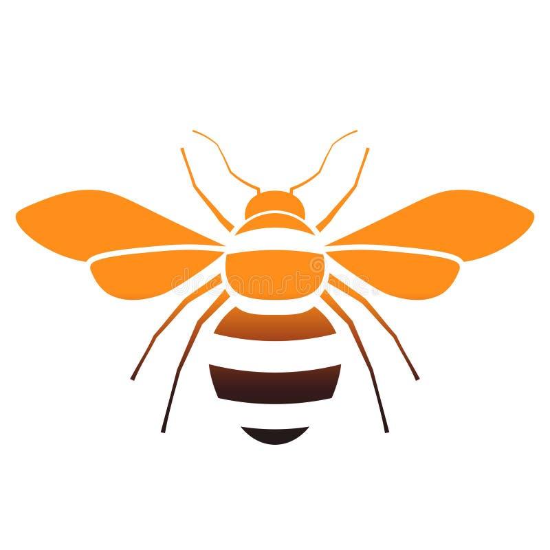 Εικονίδιο κλίσης μελισσών διανυσματική απεικόνιση