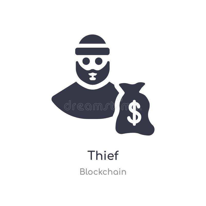 εικονίδιο κλεφτών απομονωμένη διανυσματική απεικόνιση εικονιδίων κλεφτών από τη συλλογή blockchain editable τραγουδήστε το σύμβολ διανυσματική απεικόνιση