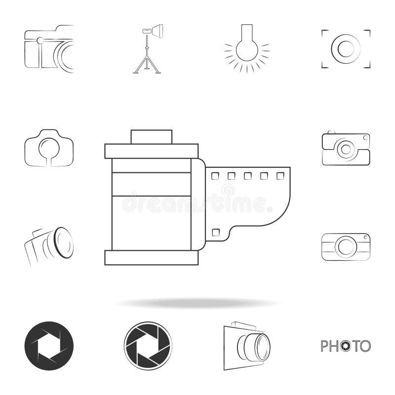 εικονίδιο κορδελλών καμερών Λεπτομερές σύνολο εικονιδίων καμερών φωτογραφιών Γραφικό σχέδιο ασφαλίστρου Ένα από τα εικονίδια συλλ απεικόνιση αποθεμάτων
