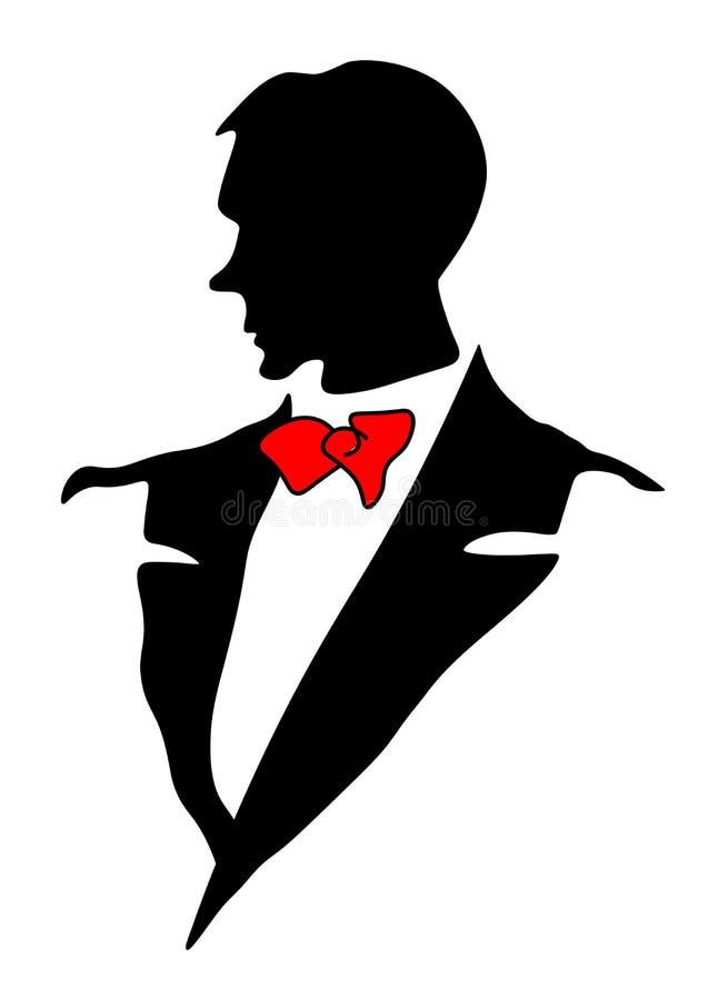 Εικονίδιο κοστουμιών των ατόμων Ιστού Σακάκι με έναν δεσμό Επίσημος ιματισμός ατόμων Ανθρώπινο κοστούμι για το μανεκέν Σκιαγραφία απεικόνιση αποθεμάτων
