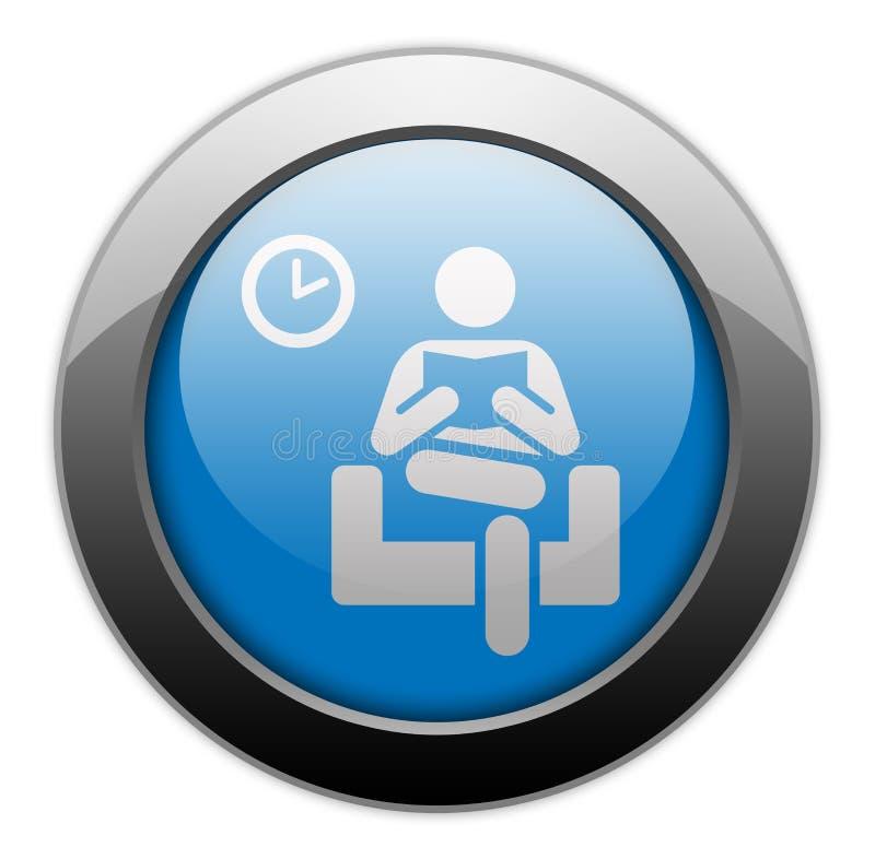 Εικονίδιο, κουμπί, αίθουσα αναμονής εικονογραμμάτων απεικόνιση αποθεμάτων