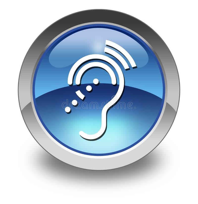 Εικονίδιο, κουμπί, ακρόαση Impairrment εικονογραμμάτων ελεύθερη απεικόνιση δικαιώματος