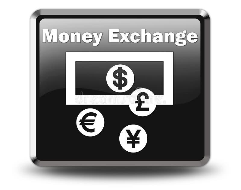 Εικονίδιο, κουμπί, ανταλλαγή νομίσματος εικονογραμμάτων απεικόνιση αποθεμάτων