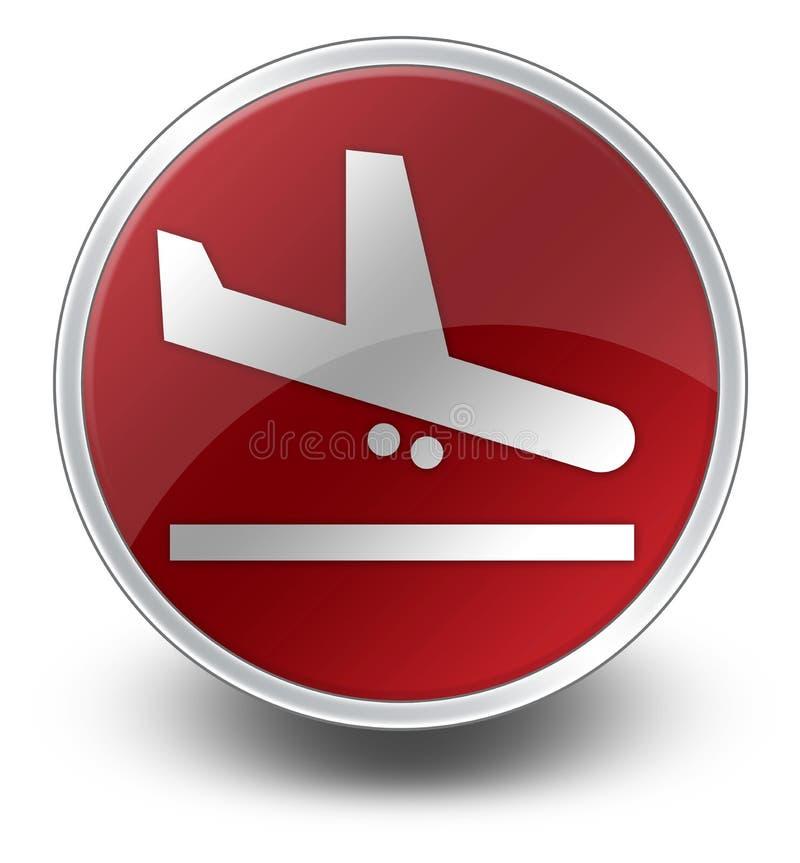 Εικονίδιο, κουμπί, αφίξεις αερολιμένων εικονογραμμάτων ελεύθερη απεικόνιση δικαιώματος
