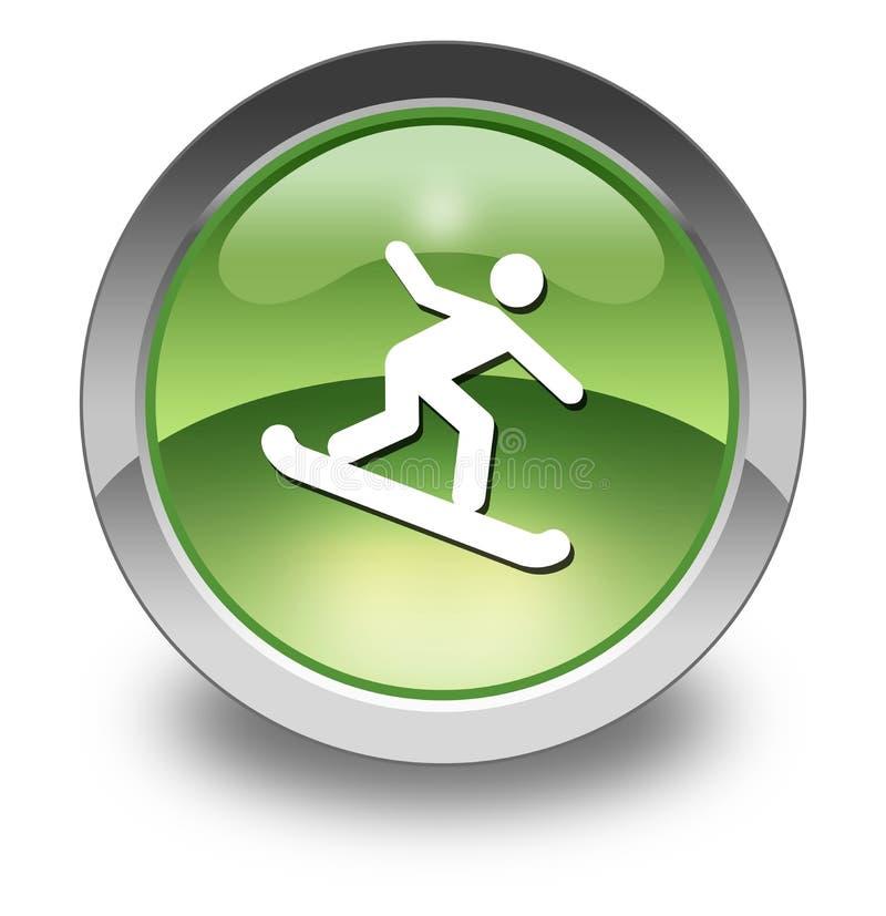 Εικονίδιο, κουμπί, εικονόγραμμα Snowboarding ελεύθερη απεικόνιση δικαιώματος