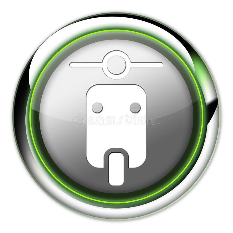 Εικονίδιο, κουμπί, μηχανικό δίκυκλο εικονογραμμάτων απεικόνιση αποθεμάτων
