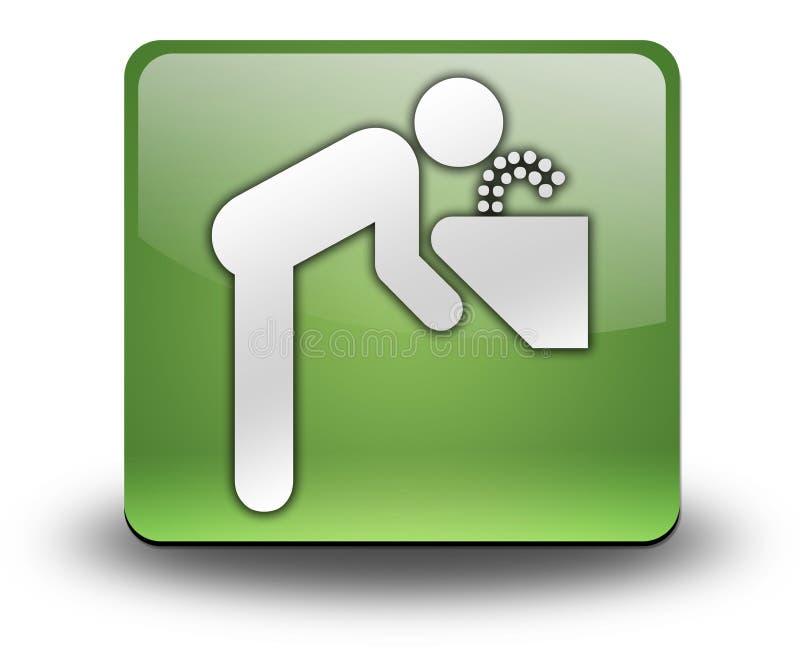Εικονίδιο, κουμπί, πόσιμο νερό εικονογραμμάτων απεικόνιση αποθεμάτων