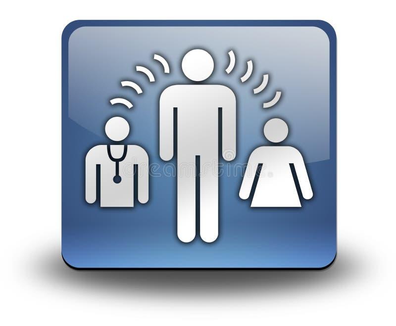 Εικονίδιο, κουμπί, υπηρεσίες διερμηνέων εικονογραμμάτων διανυσματική απεικόνιση