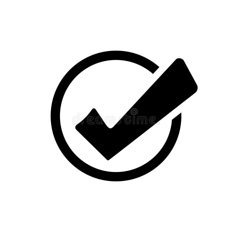 Εικονίδιο κουμπιών καταλόγων ελέγχου ελέγξτε το διάνυσμα εικονιδίων ελέγξτε το εικονίδιο σημαδιών Εντάξει εικονίδιο απεικόνιση αποθεμάτων
