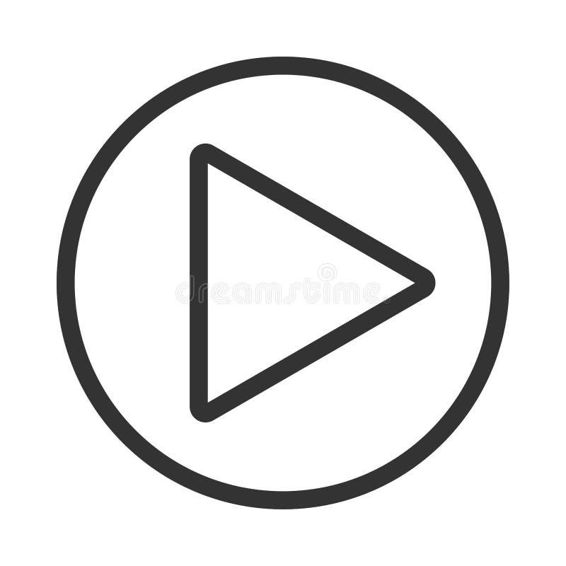 Εικονίδιο κουμπιών παιχνιδιού Η μουσική και το βίντεο χτυπούν προς τα εμπρός το σύμβολο μορφής Μέσα φορέων έναρξης βελών ώθησης Ν ελεύθερη απεικόνιση δικαιώματος