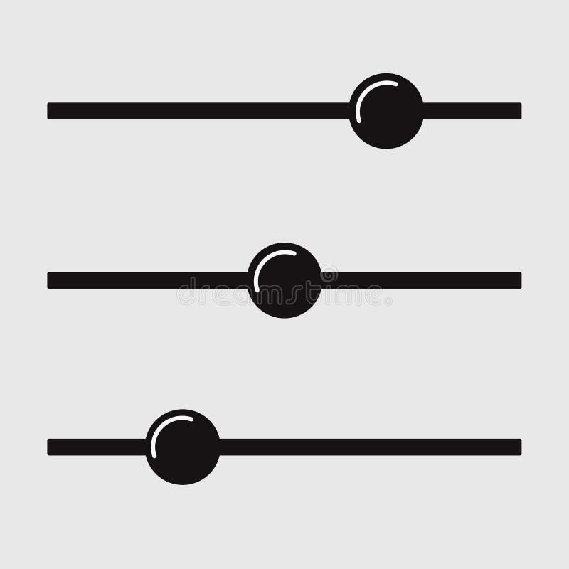Εικονίδιο κουμπιών ρύθμισης Έλεγχος φίλτρων Διάνυσμα πολυμέσων ισορροπίας ελεύθερη απεικόνιση δικαιώματος