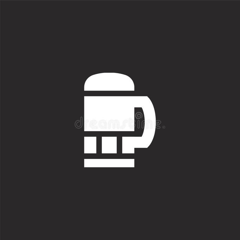 εικονίδιο κουπών μπύρας Γεμισμένο εικονίδιο κουπών μπύρας για το σχέδιο ιστοχώρου και κινητός, app ανάπτυξη εικονίδιο κουπών μπύρ διανυσματική απεικόνιση