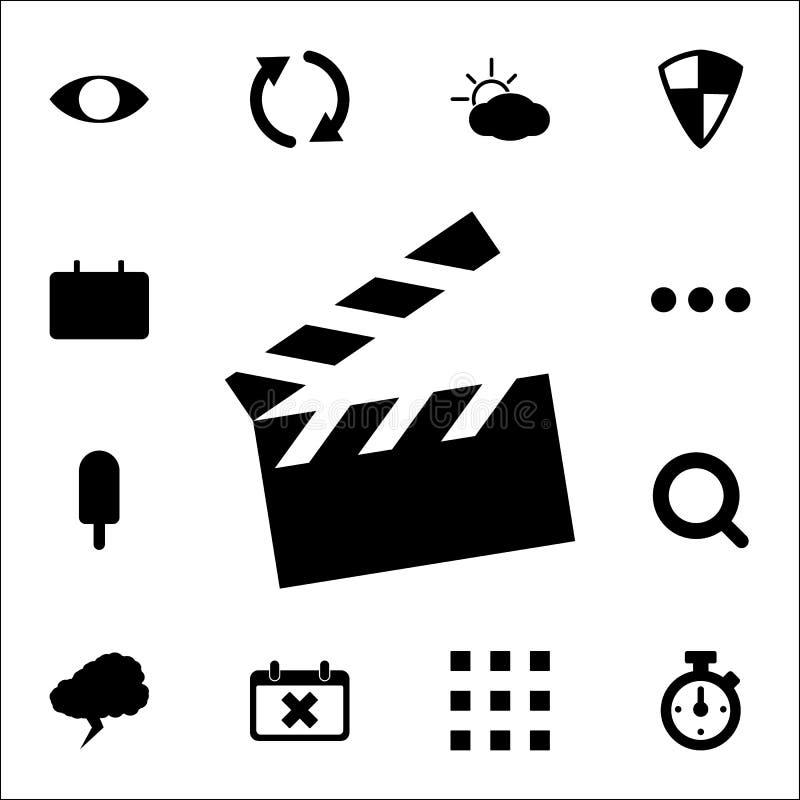 Εικονίδιο κροτίδων κινηματογράφων καθολικό εικονιδίων Ιστού που τίθεται για τον Ιστό και κινητό διανυσματική απεικόνιση