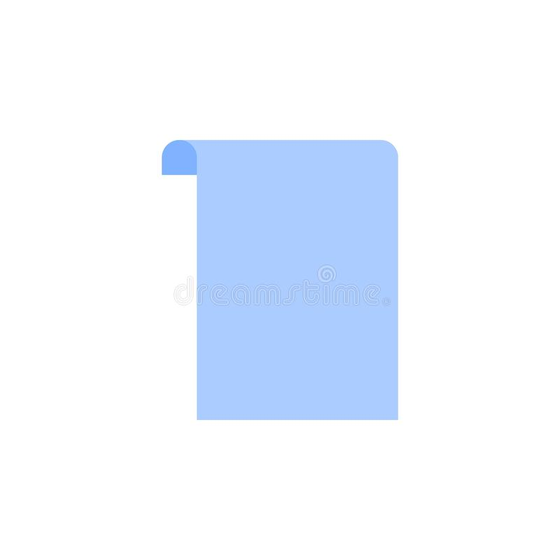 Εικονίδιο κυλίνδρων εγγράφου Διανυσματική απεικόνιση στο επίπεδο μινιμαλιστικό ύφος διανυσματική απεικόνιση