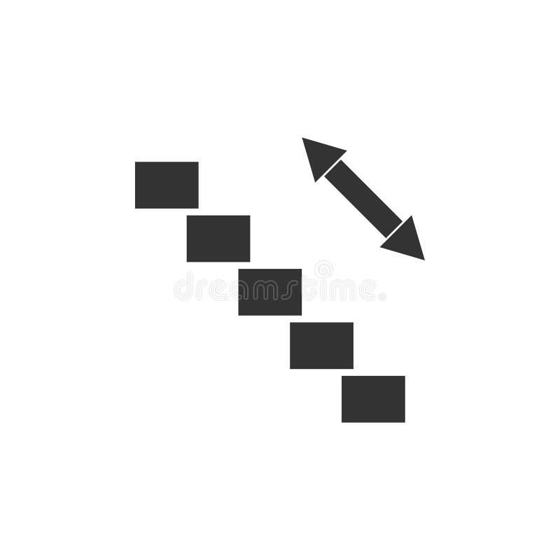 Εικονίδιο κυλιόμενων σκαλών επίπεδο ελεύθερη απεικόνιση δικαιώματος
