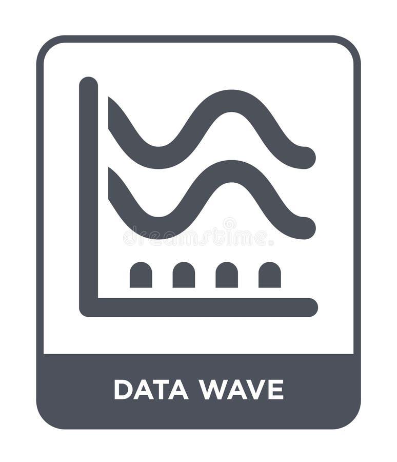 εικονίδιο κυμάτων στοιχείων στο καθιερώνον τη μόδα ύφος σχεδίου εικονίδιο κυμάτων στοιχείων που απομονώνεται στο άσπρο υπόβαθρο σ απεικόνιση αποθεμάτων
