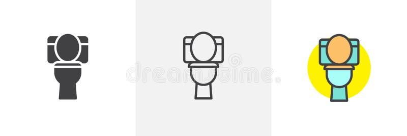 Εικονίδιο κύπελλων τουαλετών διανυσματική απεικόνιση