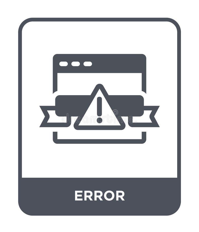 εικονίδιο λάθους στο καθιερώνον τη μόδα ύφος σχεδίου Εικονίδιο λάθους που απομονώνεται στο άσπρο υπόβαθρο απλό και σύγχρονο επίπε απεικόνιση αποθεμάτων