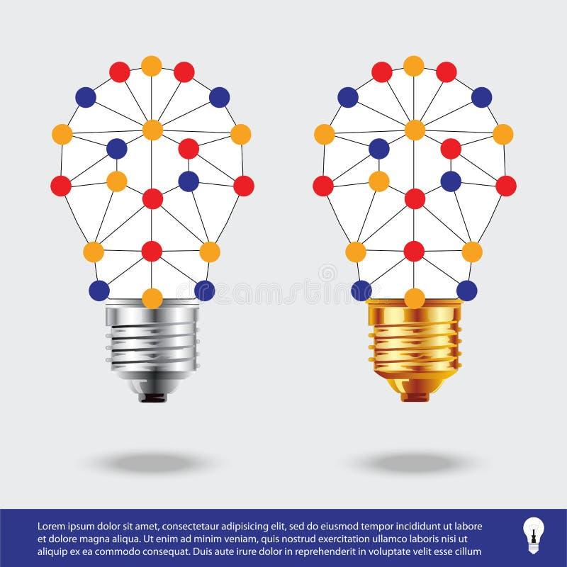 Εικονίδιο λαμπών φωτός Διανυσματική απεικόνιση εικονιδίων λαμπών φωτός ιδέα και σύμβολο συνδέσεων διανυσματική απεικόνιση