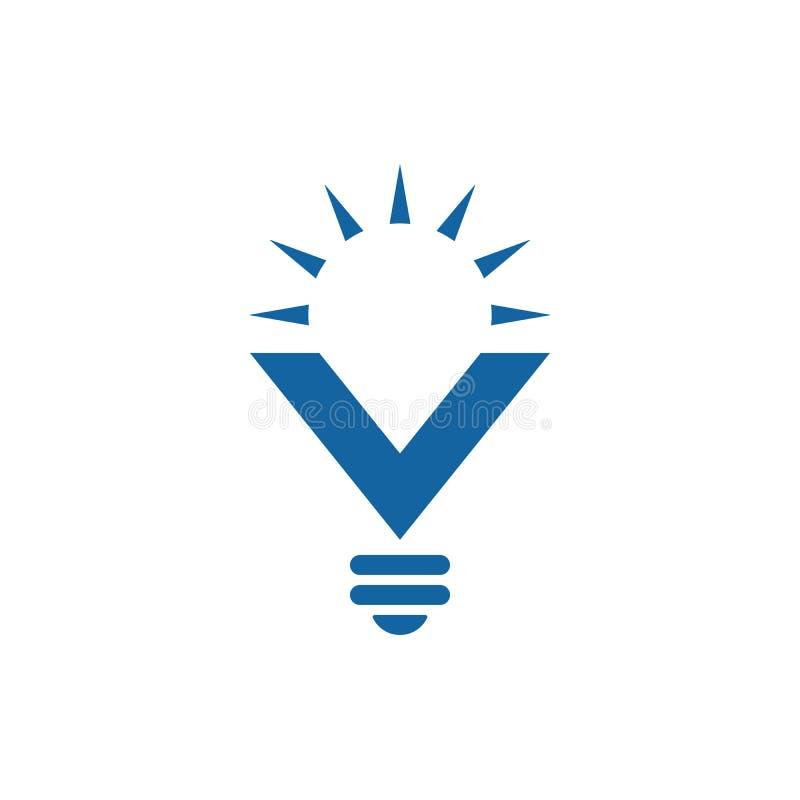 Εικονίδιο λαμπών φωτός με την επιστολή Β με τις ακτίνες ήλιων διανυσματική απεικόνιση