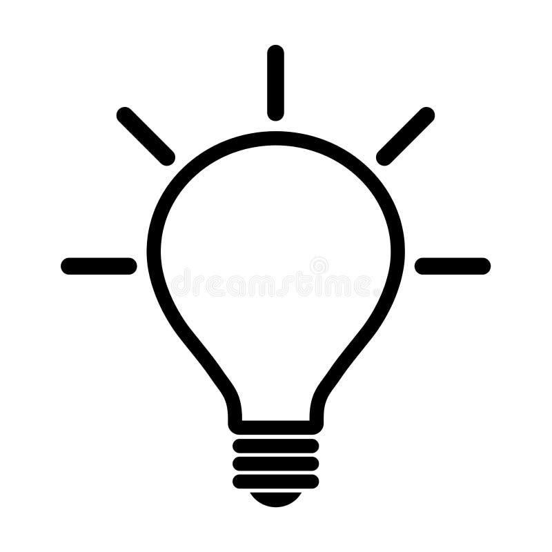 Εικονίδιο λαμπών φωτός ελεύθερη απεικόνιση δικαιώματος