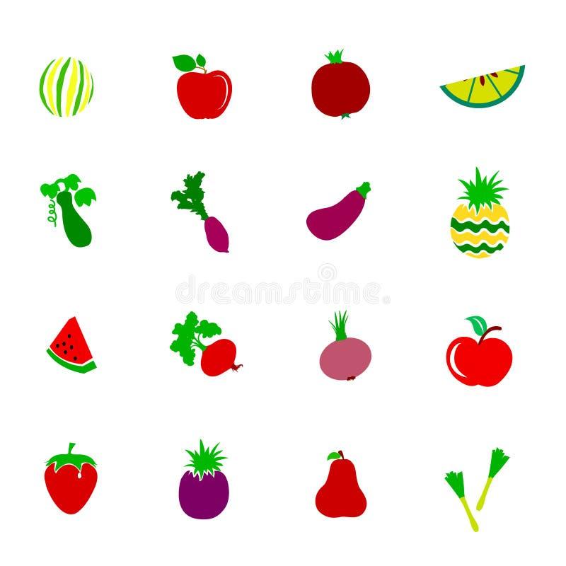 Εικονίδιο λαχανικών και φρούτων στοκ φωτογραφίες με δικαίωμα ελεύθερης χρήσης