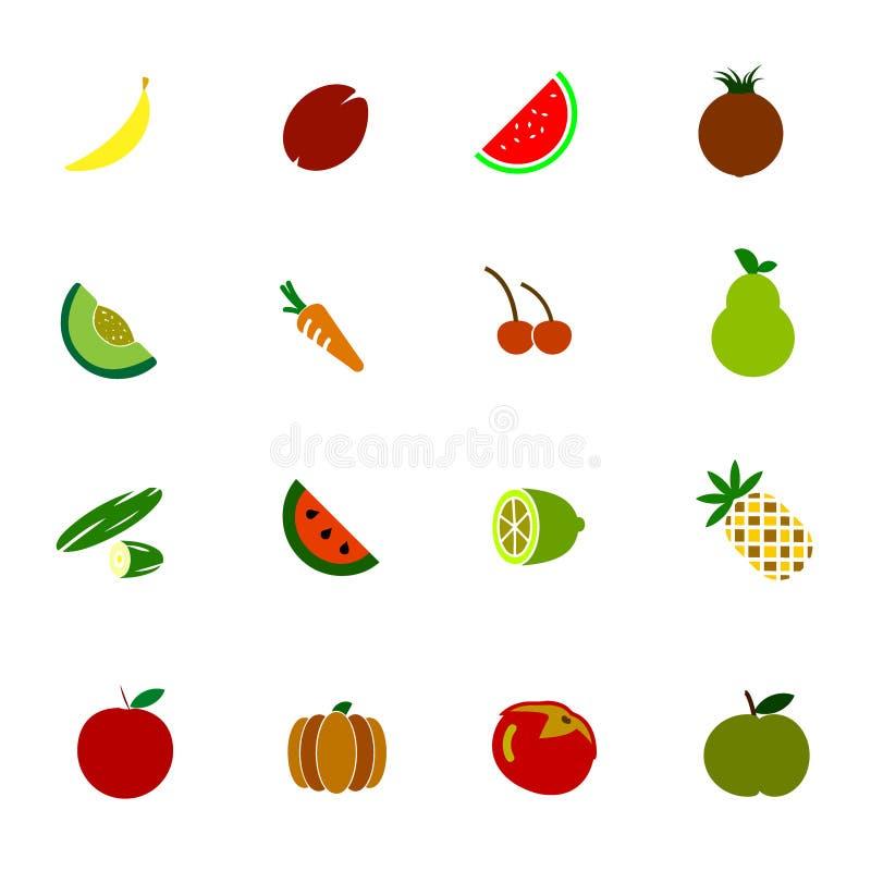 Εικονίδιο λαχανικών και φρούτων στοκ εικόνα με δικαίωμα ελεύθερης χρήσης