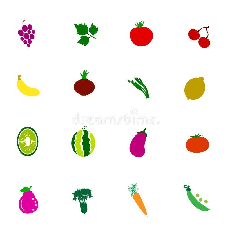 Εικονίδιο λαχανικών και φρούτων στοκ εικόνα