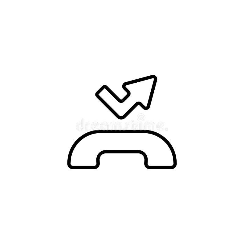 εικονίδιο Λειμμένο σύμβολο κλήσης απεικόνιση αποθεμάτων