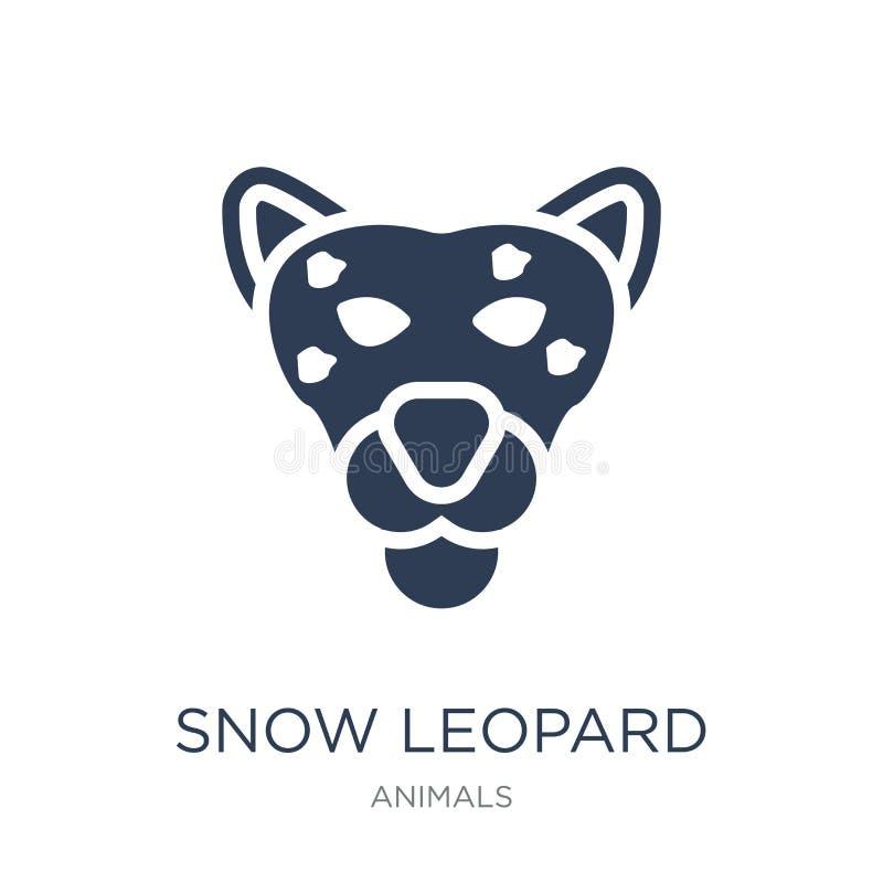 Εικονίδιο λεοπαρδάλεων χιονιού  απεικόνιση αποθεμάτων