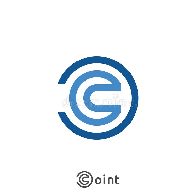 Εικονίδιο λογότυπων γραμμάτων Γ Αφηρημένο σχέδιο σημαδιών αλφάβητου για την επιχειρησιακή επιχείρηση απεικόνιση απεικόνιση αποθεμάτων
