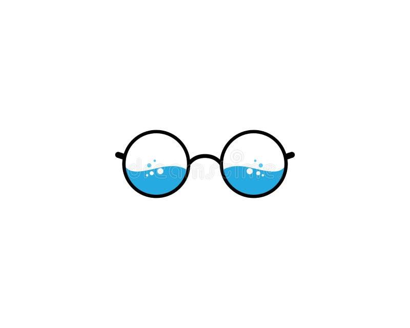 Εικονίδιο λογότυπων γυαλιών απεικόνιση αποθεμάτων