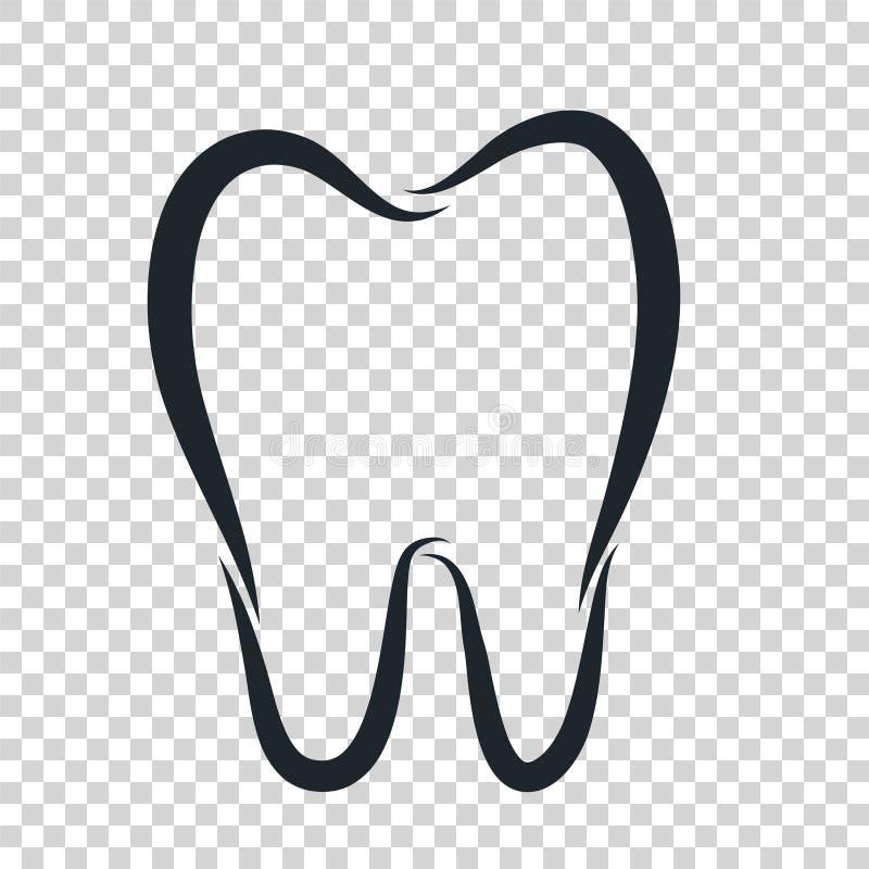 Εικονίδιο λογότυπων δοντιών για τον οδοντίατρο ή το οδοντικό σχέδιο προσοχής στοματολογίας te διανυσματική απεικόνιση