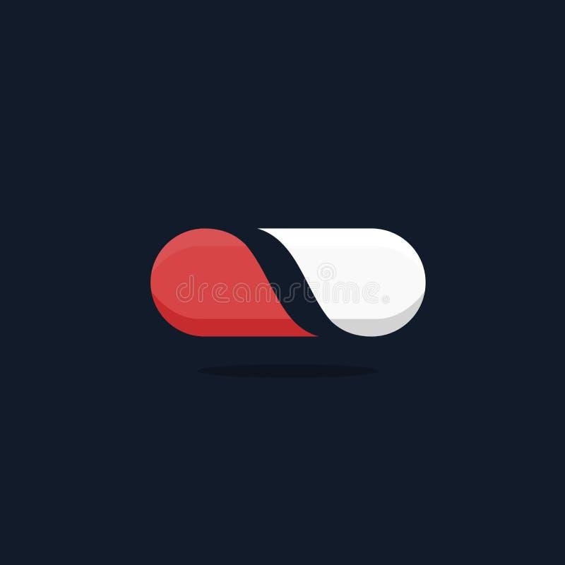 Εικονίδιο λογότυπων χαπιών φαρμακείων στοκ φωτογραφίες