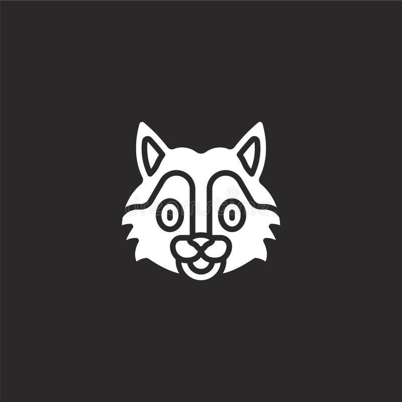 εικονίδιο λύκων Γεμισμένο εικονίδιο λύκων για το σχέδιο ιστοχώρου και κινητός, app ανάπτυξη εικονίδιο λύκων από τη γεμισμένη ζωικ διανυσματική απεικόνιση