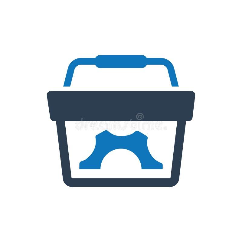 Εικονίδιο λύσης ηλεκτρονικού εμπορίου απεικόνιση αποθεμάτων