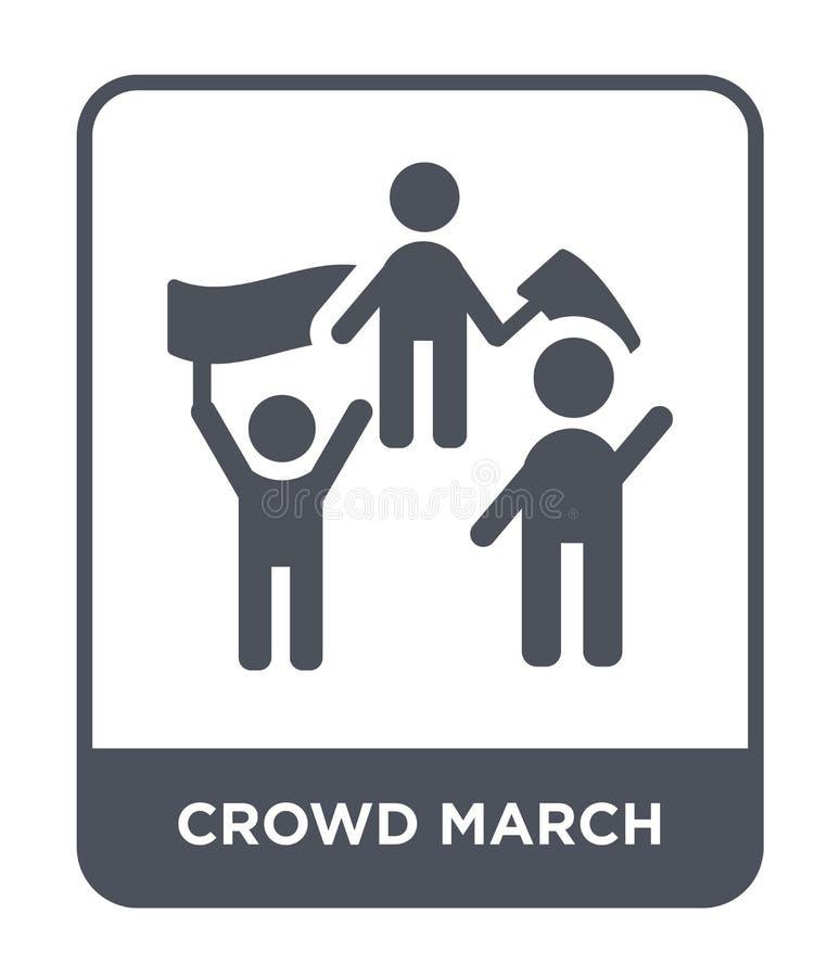 εικονίδιο Μαρτίου πλήθους στο καθιερώνον τη μόδα ύφος σχεδίου εικονίδιο Μαρτίου πλήθους που απομονώνεται στο άσπρο υπόβαθρο διανυ διανυσματική απεικόνιση